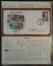 Liberia United We Stand First Day Of Issue Statue Of Liberty Stamp 2002