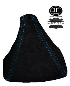 BLUE  STITCH REAL SUEDE GEAR BOOT FITS HONDA S2000 1999-2009