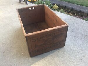 Seward Alaska Red Salmon Shipping Crate San Francisco Vintage