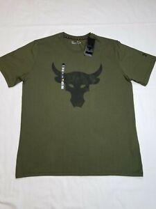 Under Armour Men's Project Rock Brahma Bull Short Sleeve Shirt Guardian Green XL