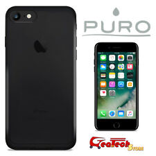 PURO Custodia Ultra Slim 0.3 mm per iPhone 7 Cover NUDE Nera Trasparente Sottile