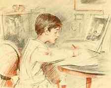 A4 photo helleu paul césar Paul Helleu peintre et graveur 1913 le copiste de Cha