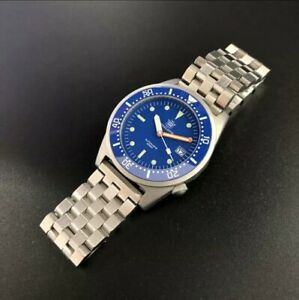 UK STEELDIVE SD1979 BLUE 200M Squale 1521 50 Atmos *FREE STRAP INCLUDED*
