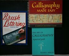 CALLIGRAPHY, BRUSH LETTERING BOOK LOT (3) ~ HOW TO, BEGINNER'S GUIDE