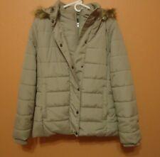 Womens St John Bay Beige Winter Coat Large