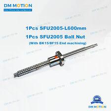 SFU2005 RM2005 600mm Rolled Backlash Ball screws + ballnut for DIY CNC part XYZ