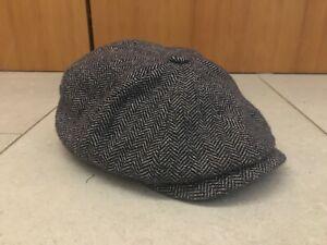 Stetson Hatteras Baker Boy Cap Hat Herringbone Size M