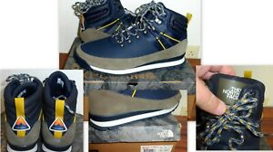 NWB $130 THE NORTH FACE BACK TO BERKELEY HIKING NF0A4MBB5YR-100 NAVY BOOTS 12