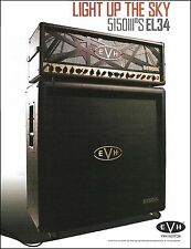 Eddie Van Halen 2017 EVH 5150 III S EL34 guitar amp ad 8 x 11 advertisement