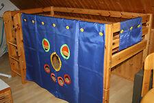 FLEXA- Hochbett -  halbhohes Bett mit Lattenrost 90 x 200 cm