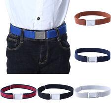 Boys Kids Magnetic Buckle Belt Canvas Waist Belts Stretchable Children Waistband