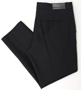 Ann Taylor Devin Tailored Ankle Cropped Pants Stretch Straight Black Size 10 New