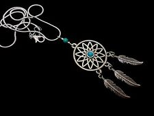 """A LOVELY TIBETAN SILVER  DREAMCATCHER NECKLACE ON 18"""" SNAKE CHAIN. NEW."""