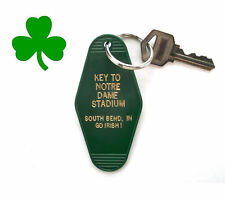 """KEY TO NOTRE DAME STADIUM"" novelty KEY TAG Fighting Irish football South Bend"