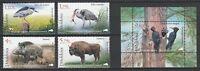 Moldova 2018 Birds & Animals 4 MNH Stamps + Block