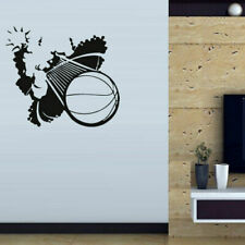 Wall Decal Ball Basketball Strike Throw Force Game vinyl room M131
