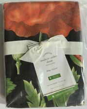Pottery Barn Poppy Organic Percale Pillow Sham, King, Free Shipping