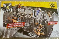 ⛓Mattel WWE Wrekkin' NXT Takeover War Games Huge Playset Double Wrestling Ring⛓