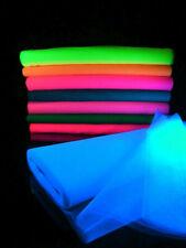 1 lfm UV Schwarzlicht Tüll Neon Deko Soff
