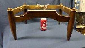 1018D Vtg 1960's Walnut? Ottoman BASE Original Screws Included Mid Century GVC
