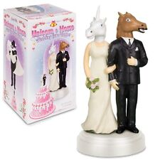 Unicorn and Horse Bride & Groom Unique Wedding Cake Topper!