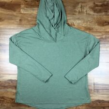 Womens Athletic works tunic  hoodie 3X green pullover