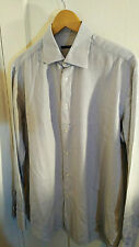 Pal Zileri Blue/White Stripes Slim Fit Shirt Size 41/16/M Made in Italy RRP £150