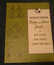 """1958 World Book """"Badge & Honor Guide"""" Boy Scouts, Girl Scouts, Camp Fire Girls"""
