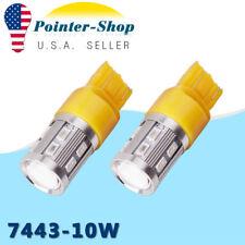2 X Amber/Yellow 7443 7440 5730 Turn Signal  Projector LED Light Bulbs 12V