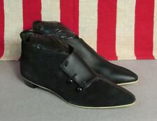 Vintage 1960s Js Raub Shoes Leather Spat Ankle Boots Sz.6 New Nos w/Box Mod Nice