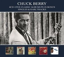 Chuck Berry FIVE (5) CLASSIC ALBUMS+SINGLES After School Session ON TOP New 4 CD