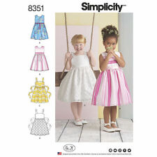 Simplicity SEWING PATTERN 8351 Childs Dresses Age 3-8