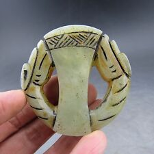 Chinese , jade,manual sculpture, natural jade, dragons, pendant B811=
