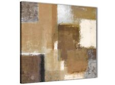 Brown Cream Beige Painting Bathroom Canvas Accessories - Abstract 1s387s - 49cm