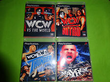 Empty Replacement Cases! WCW vs. World Mayhem Thunder Collection PS1 PS2 PS3