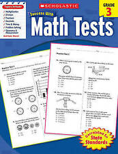 Scholastic Success with Math Tests,  Grade 3-ExLibrary