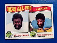 1975 Topps #202 Rayfield Wright Russ Washington Football
