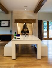 Gloss White Milano 6-8 Seater Dining/ Pool Table -Make The Most Out Of Your Room