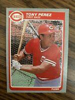 1985 Fleer  #546  Tony Perez Cincinnati Reds   NrMt