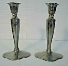 2 COLONIAL PEWTER by BOARDMAN Candlesticks Candle Holders Pewter 7""