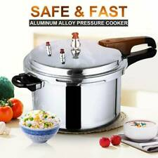 5.3 Qt Aluminium Pressure Fast Cooker Kitchen Electric/Gas Stove Cookware USA