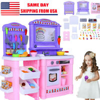 Play Food Set Kit for Kids Kitchen Cooking Kid Toy Lot Pretend Children Playset