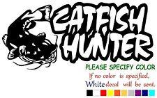 "Catfish Hunter Fishing Funny Vinyl Decal Sticker Car Window laptop tablet 7"""