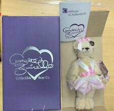 """Annette Funicello Jointed Bear 9"""" Rosey Petals #238 of 2500 Le Mib Coa"""