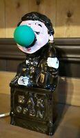 The Bar Is Open Light Ceramic Lamp Bartender Green Nose Light Bulb Vintage/Japan