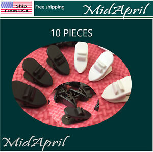 10 pcs Clip Clamp Cable Cord Collar Lapel Shirt Holder for Headphone Earphone