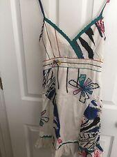 Kessley Designer Dress Ladies Woman's Lined Sun Dress Multi Color SZ Small S