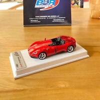 BBR 1:43 Ferrari Monza SP2 2018 Rosso Corsa Resin Car Model Limited 12pcs w/Base