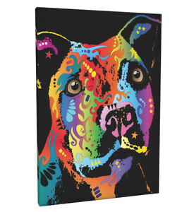 Staffordshire Bull Terrier Box Canvas and Poster Print (120)