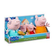 Peppa Peluche Family 4 Pack Set Peppa Pig Jouet Doux lot jeu